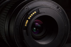 Telephoto lens aperture mount Royalty Free Stock Images