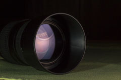 Telephoto lens aperture with nice reflections Stock Image