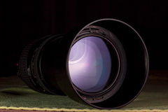 Telephoto lens aperture with nice reflections Stock Images