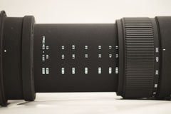 Telephoto lens Royalty Free Stock Photo