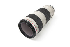 Telephoto lens over white Stock Photos