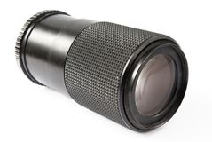 Telephoto lens over white Royalty Free Stock Photos