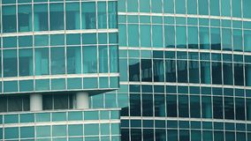 Telephoto lens shot of an office skyscraper Royalty Free Stock Images