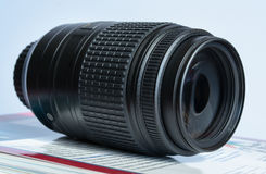 Telephoto lense Stock Photo