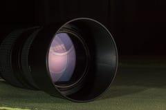 Telephoto obiektywu apertura z ładnymi odbiciami Obraz Stock