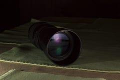 Telephoto obiektywu apertura z ładnymi odbiciami Zdjęcie Stock
