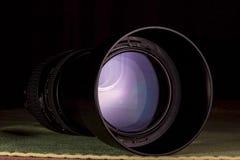 Telephoto obiektywu apertura z ładnymi odbiciami Obrazy Stock