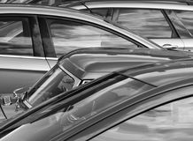 Telephoto view of parked cars Royalty Free Stock Image