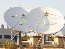 Teleport satellit- kommunikationer Fotografering för Bildbyråer