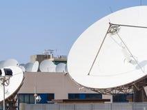 Teleport satellit- kommunikationer Arkivbild