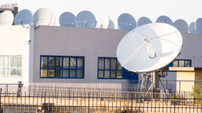 Teleport satellite communications Royalty Free Stock Images