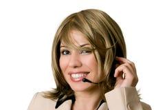 Telesales o operatore del servizio d'assistenza immagini stock