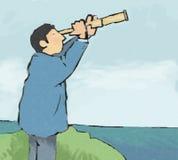 telescópio ilustração stock