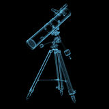 Telescópio astronômico Foto de Stock Royalty Free