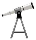 Telescópio com suporte do triângulo Imagem de Stock