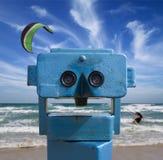 Telescópio da praia Imagens de Stock Royalty Free