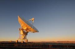 Telescópio de rádio de VLA foto de stock