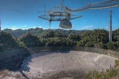 Telescópio de rádio do obervatório de Arecibo em Porto Rico Imagem de Stock