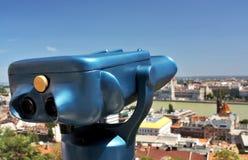 Telescópio do turista Fotos de Stock