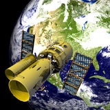Telescópio espacial Fotos de Stock