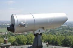 Telescópio a fichas cinzento isolado no branco Imagem de Stock Royalty Free