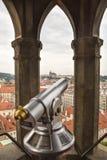Telescópio a fichas em Praga Fotografia de Stock