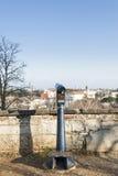 Telescópio a fichas para Sightseeing Fotografia de Stock