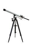 Telescópio isolado no branco Foto de Stock