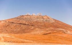Telescópio muito grande o Chile do europeu imagens de stock