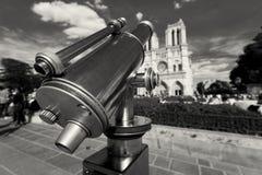 Telescópio na catedral de Notre Dame, Paris Foto de Stock Royalty Free