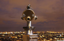 Telescópio na torre Eiffel Imagens de Stock Royalty Free