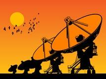 Telescópios de rádio Foto de Stock Royalty Free
