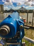 Telescoop in Brisbane stock afbeelding