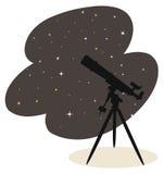 Telescoop en sterren royalty-vrije illustratie