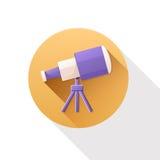 Telescoop vlak pictogram Royalty-vrije Stock Foto's