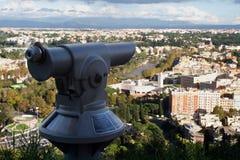 Telescooppanorama van Rome Stock Foto