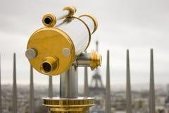 Telescop? op Arc de Triomphe Royalty-vrije Stock Foto