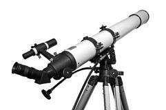 Telescope. Observing the stars, planets and constellations Stock Images