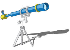 Telescope. Illustration with a blue telescope Stock Images