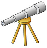 Telescope. Icon; vector illustration; isolated Royalty Free Stock Photos