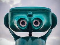 Telescope. A telescope like a face stock images