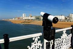The telescope. At pier in brighton Stock Photo