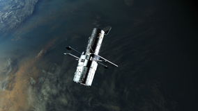 Telescope above earth stock video