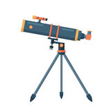 Telescope for astronomy science space discovery instrument vector illustration. Stock Photography