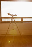 Telescope on the balcony Royalty Free Stock Photography