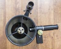 Telescope. Black Newtonian reflector telescope front view stock photography