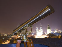 Telescope and Cathedral Royalty Free Stock Photo