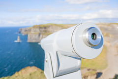 Telescope at Cliff of Moher Stock Photo