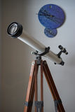 Telescope and cosmic clock Stock Images