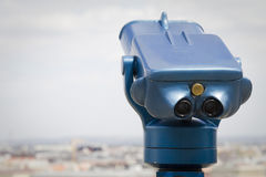 Telescope on danube river, budapest Royalty Free Stock Images